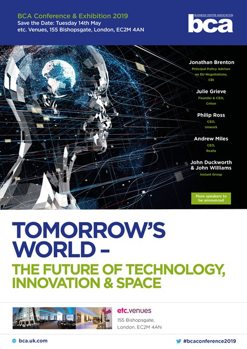 BCA Conference 2019 - Tomorrow's World - The future of Technology, Innovation and Space