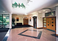 Adamson House reception, Didsbury, Lancashire, Regus