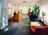 Reception at The Quorum, Regus Business Centre, Oxford Business Park, Oxford, OX4