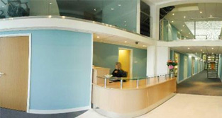 Reception at Oasis Serviced Offices in Camden, London NW1