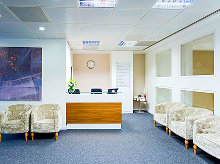 Regus Manchester reception, Lancashire, M2