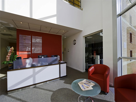 Regus Nottingham East MIdlands Airport reception, Derbyshire, DE74