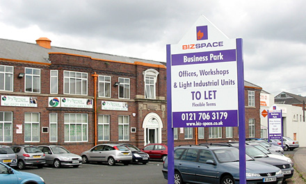 Main Entrance, Bizspace Business Park, Tyseley, B11