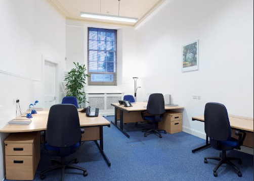 Typical office at Capital Business Centre, Edinburgh