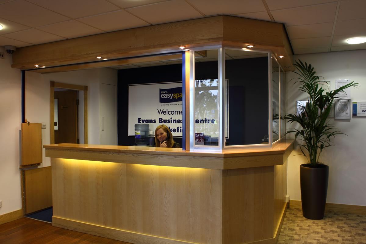Evans Business Centre reception, Wakefield, Yorkshire, WF2