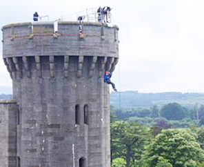 Daredevils take the plunge for charity at Dudley Castle